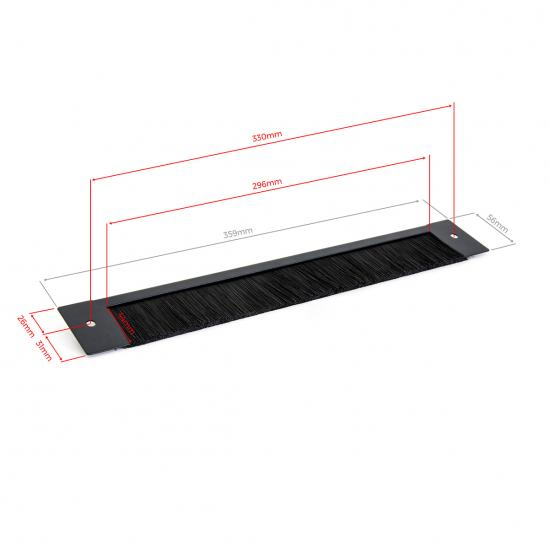 330mm brush panel for rack cabinets (STLCA-BP330) | START.LAN