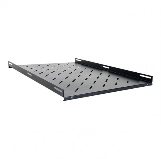 fixed shelf for 1000mm rack cabinets (overall depth: 700mm, RAL9005) (STLCA-FS100-B) | START.LAN