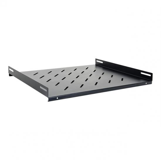 fixed shelf for 600mm rack cabinets (overall depth: 350mm, RAL9005) (STLCA-FS60-B) | START.LAN