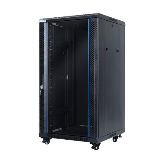 "floor-standing rack 19"" cabinet 22U 600x600mm (STLFSC-22U-66-GSB) 