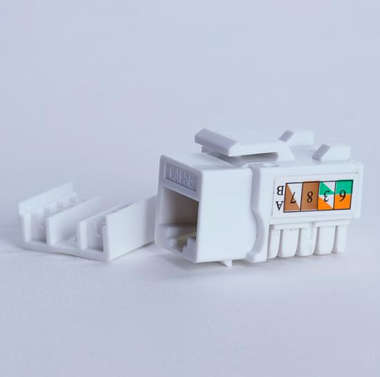 UTP cat.5e keystone module (8P8C) (90 degrees, white) (STLKJUC5E90WH) | START.LAN
