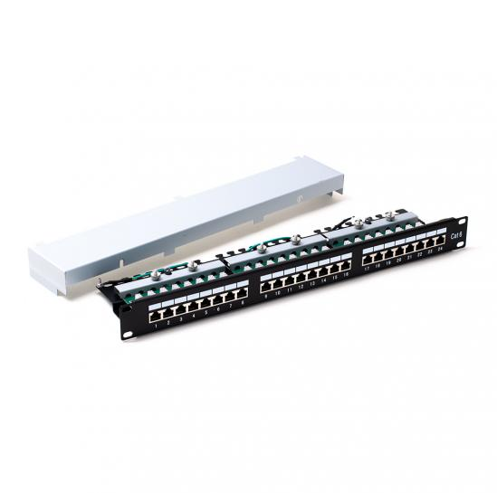 STP cat.6 24 ports patchpanel (STLPP1U24SC6) | START.LAN
