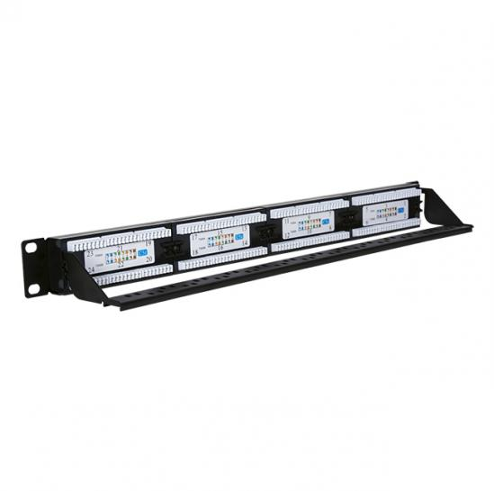 UTP patch panel, cat.5e, 24 RJ-45 ports with a demountable auxiliary strip (STLPP24UC5E-D) | START.LAN