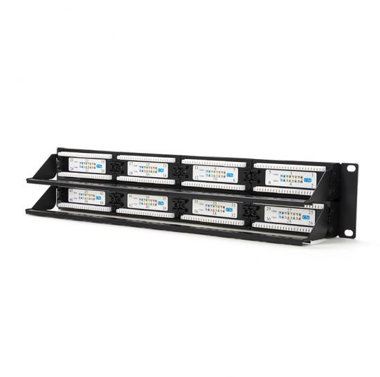 UTP patch panel, cat.5e, 48 RJ-45 ports with demountable auxiliary strips (STLPP48UC5E-D) | START.LAN