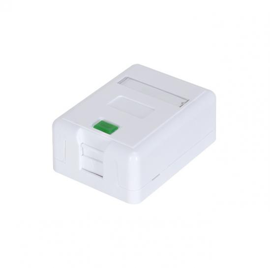UTP socket surface blank for one keystone, white (STLSB1KS) | START.LAN