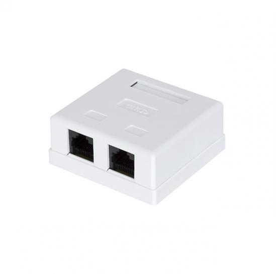 UTP cat.5e socket surface (2xRJ-45) complete, white (STLSB2U5E) | START.LAN