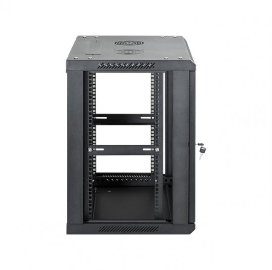 "19"" wall mount rack cabinet 12U 600x450mm (STLWMC-12U-645-GSB) 