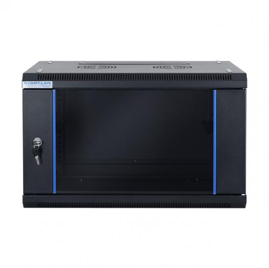 "19"" wall mount rack cabinet 6U 600x450mm (STLWMC-6U-645-GSB) 