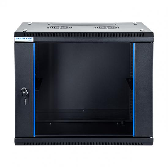 "19"" wall mount rack cabinet 9U 600x450mm (STLWMC-9U-645-GSB) 