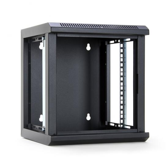 "10"" wall mount rack cabinet 6U 310x300mm (STLWMC10C-6U-GSB) 